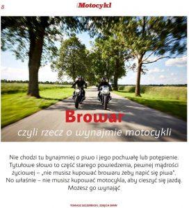 Browar, czyli rzecz o wypożyczaniu motocykli (fot. BMW)