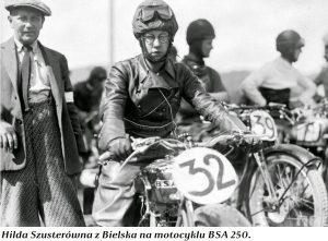 Babcie na motocyklach - Hilda Szusterówna z Bielska na motocyklu BSA 250