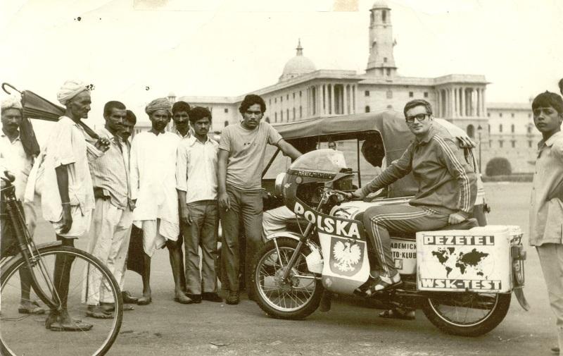 Marek Michel, na 7-konnym WSK 125 w 1973 roku pojechał do Indii