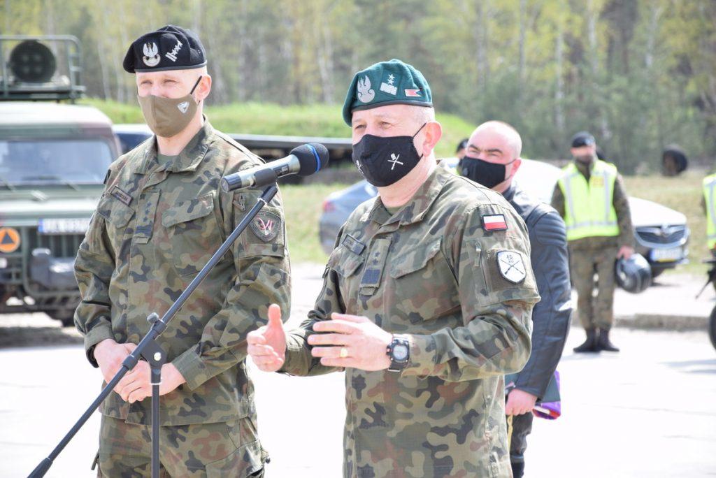Rajd Weteranów generał dywizji Jarosław Gromadziński i pułkownik Szczepan Głuszczak