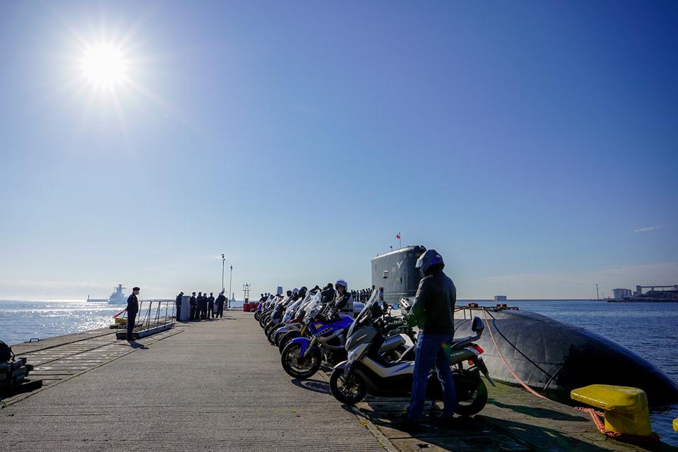 Rajd Weteranów motocykliści łódź podwodna ORP Orzeł