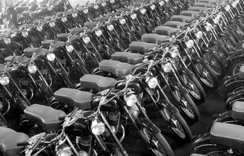 Motocykle WFM 125 M06 w magazynie fabrycznym